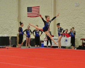Queen of Hearts Invitational 2014 Floor Leap - Level 7