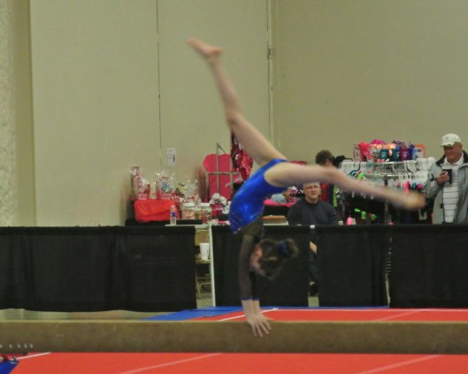 Queen of Hearts Invitational 2014 Beam 2nd Back Walkover - Level 7