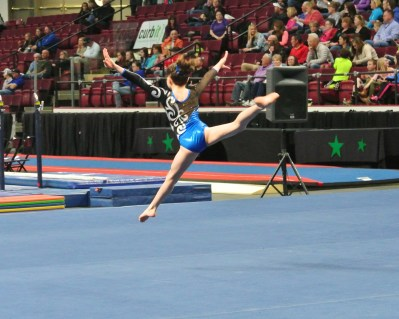 Idaho State Championships 2014 Floor Leap - Level 7