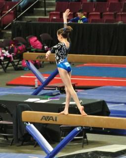 Idaho State Championships Beam Pose - Level 7