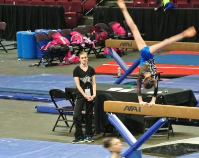 Idaho State Championships Beam Cartwheel - Level 7