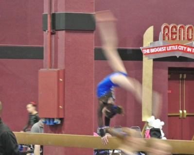 Flips Invitational 2015 Beam Back Walkover - Level 7