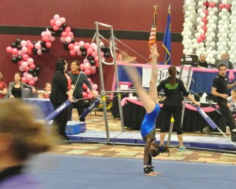 Flips Invitational 2015 Floor Coming out of Handstand - Level 7