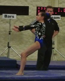 Queen of Hearts Invitational 2015 Vault Landing - Level 7