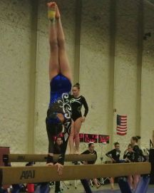 Queen of Hearts Invitational 2015 Beam Handstand - Level 7