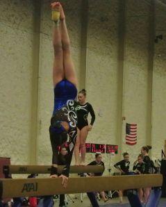 Queen of Hearts Invitational 2015 Beam Handstand - Level 7