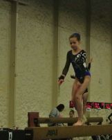 Queen of Hearts Invitational 2015 Beam Tuck Jump - Level 7