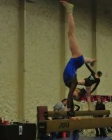 Queen of Hearts Invitational 2015 Beam Dismount - Level 7
