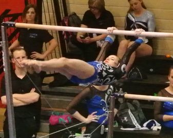 Idaho State Championships 2015 Bars Tap Swing - Level 7