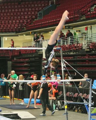 Gem State Invitational 2016 Bars Pirouette - Level 8