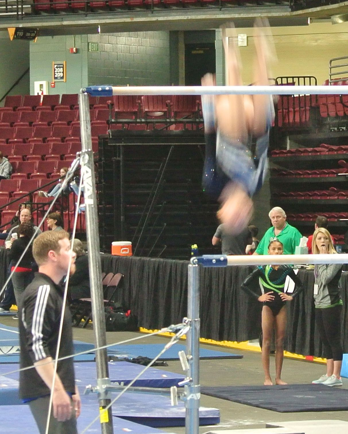 Gem State Invitational 2016 Bars Double Back Tuck - Level 8