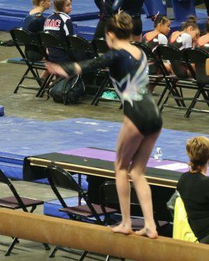 Gem State Invitational 2016 Beam 180 Tuck Jump - Level 8