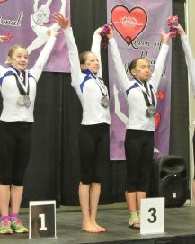 Queen of Hearts Invitational All-Around Awards - Tied for 3rd - Level 8