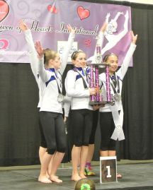 Queen of Hearts Invitational Team Awards - First - Level 8