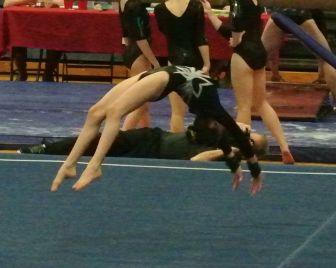 Idaho State Championships 2016 Floor Back Handspring - Level 8