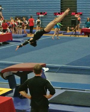 Idaho State Championships 2016 Vault Handstand - Level 8