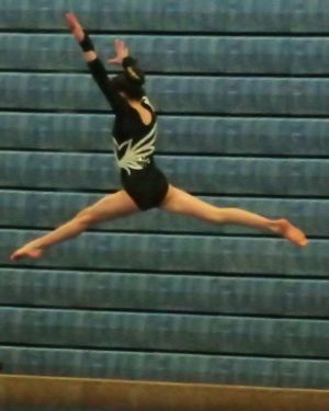 Idaho State Championships 2016 Beam Leap - Level 8