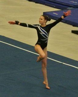 Idaho State Championships 2017 Floor Leap Pass - Level 8