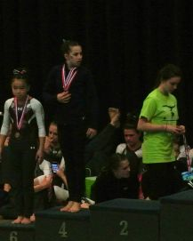 Idaho State Championships 2017 Vault Awards - I would have been standing right there, 2nd Place, if she had actually taken a photo - Level 8