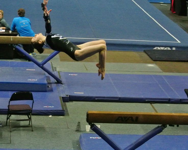 Region 2 Championships 2017 - Beam Back Tuck Dismount - Level 8