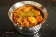 Brinjal-drumstick curry