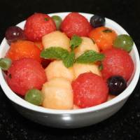 Melon ball fruit salad