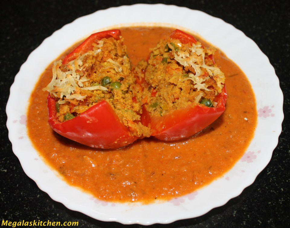 IMG_3757 Stuffed Capsicum in Gravy