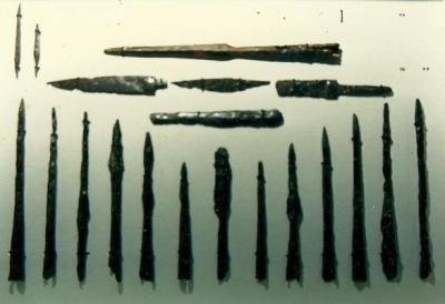 Armas de la necrópolis de Buzaga (Elorz)