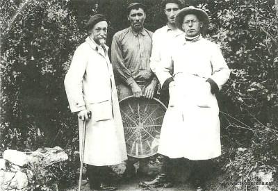 Ansoleaga y Barandiaran en Aralar, 1913