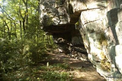 Abrigo habilitado junto al dolmen Urrobi 2