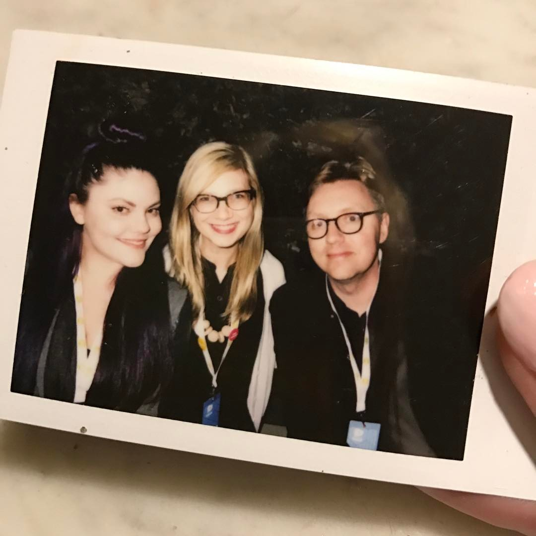 @vidcon edition: VidCon is sheer insanity but last year's sweet & super fun reunion with old favorite friends @corinneleigh @timshey & @robczar was the best times I've had there. Miss you dudes. 🖤