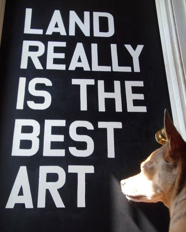 """Land really is the best art."" Warhol Wall Quote Threadbanger's Decor It Yourself 2010"