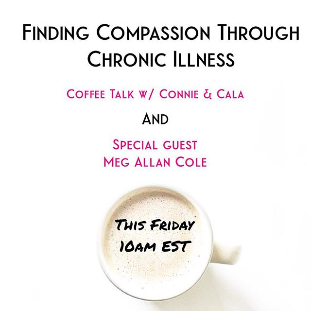 This Friday at 10am I'm joining  @emayacircle for a Live video on Finding Compassion Through Chronic Illness. Hilariously due to my chronic illness I can no longer drink coffee but I'm cool with that because I'm creating a beautiful life filled with joy, love, new chapters and projects no matter what it takes. In 2015-2016, I hit a health crisis rock bottom and have clawed my way back. I've learned so much on the way and will bring validation, compassion, and healthy coping tools and nurturing habits to support you or anyone you love who has experienced a rock bottom or is living with chronic illness. Chronic illness has made me a stronger, more badass, independent, loving, and fiercely capable woman. It can be a deeply rewarding experience WHEN you get the right care and support. We have your back and bring takeaway tips for both patients and caregivers of chronic illness and pain