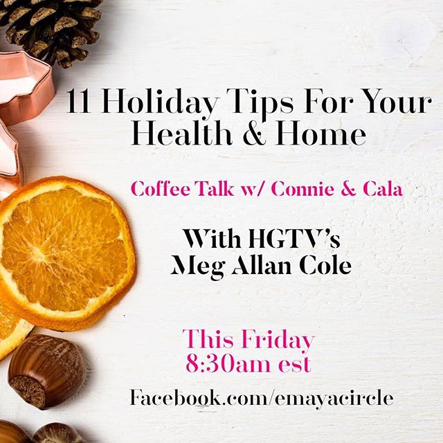 This holiday season can be lighter and easier with helpful home & health tips to support you. Join Emaya & I tomorrow morning at 8:30am for a live video. As we chat, comment any questions you have that we can help you with. Happy Holidays! ✨❄️✨ Join me in February for Emaya's program to transform your body and spirit in the new year for a friends & family discount here & in my profile: http://backtoher.emayacircle.com/meg