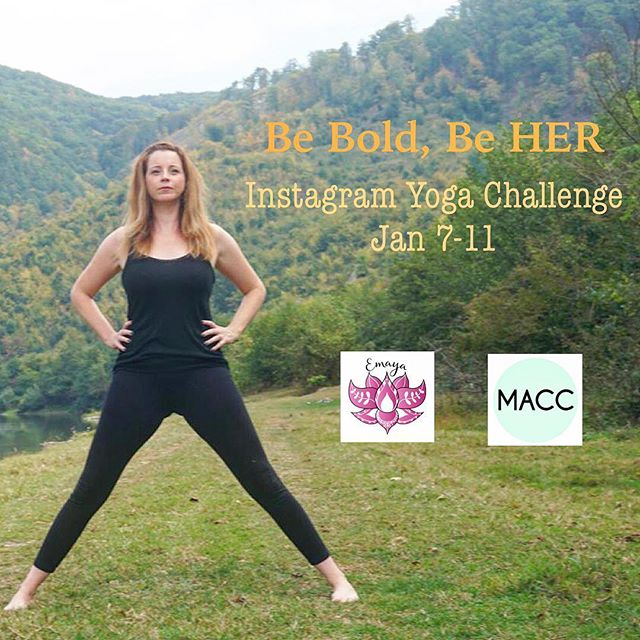 Back to HER is a 40 day online program using yoga, meditation, coaching and a powerful circle of support to empower women. 💥 .  In honor the the connection and strength that we are creating in our, Emaya has joined forces with creative sweetheart and powerhouse, @megallancole to kick of the new year with a fun Instagram yoga challenge: Be Bold, Be HER. One winner will get a free seat in our Back to HER program and one will get a free home coaching session with Meg! 🤸🏽‍♀️👯‍♀️ .  To play along and be entered to win: •Follow @emayacircle and @megallancole on instagram 👯‍♀️ •Post your unique variation of the pose for the day, each of the 5 days! Catching this challenge late? No problem! Make sure to post all 5 poses! 🧘🏽‍♀️🧘🏻‍♀️ •Use these hashtags💥 •Tag friends for extra entries 👭 .  We begin TOMORROW! See you there!!