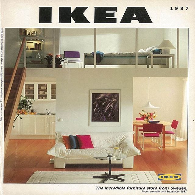 This 1987 IKEA Catalogue is giving me life right now with its 80's minimalist vibe.