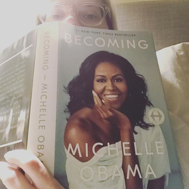 Currently reading: BECOMING by @michelleobama. Within the first few pages you feel like you're with your best friend who is opening your heart to her deeply personal experience, and yet it's the experience of so many. You can relate deeply while having it open your eyes to roads you've never taken. If you're into a read that will deepen your compassion, wisdom, understanding, perspective, and soul, this one is for you and your beautiful becoming.✨ Thank you for my favorite Christmas gift @williedictionary.