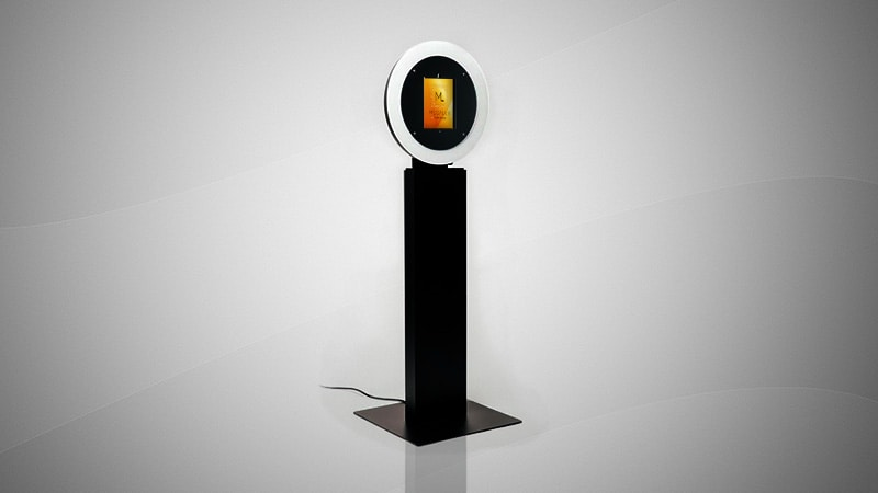 Megalux Photo Booth Rental - Open Air Ring Touch Kiosk