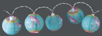 Party Lighting Feestverlichting lampionnen  (rond blauw)