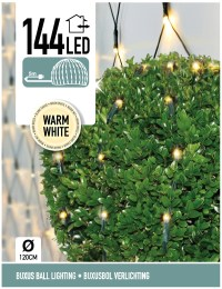Buxus Netverlichting 144 LED's warm wit