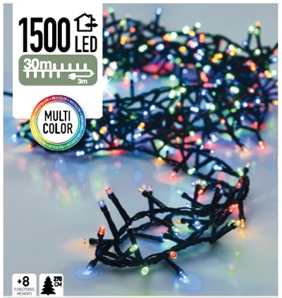 Micro Cluster 1500 LED's 30 meter multicolor