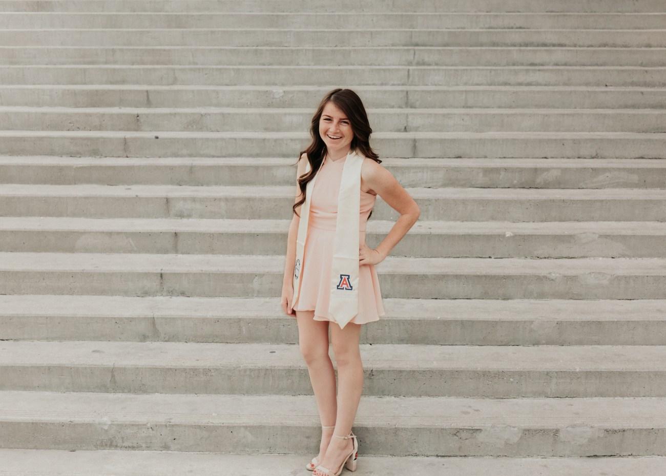 Megan Claire Photography | Arizona Wedding and Portrait Photographer. University of Arizona grad photoshoot. @meganclairephoto