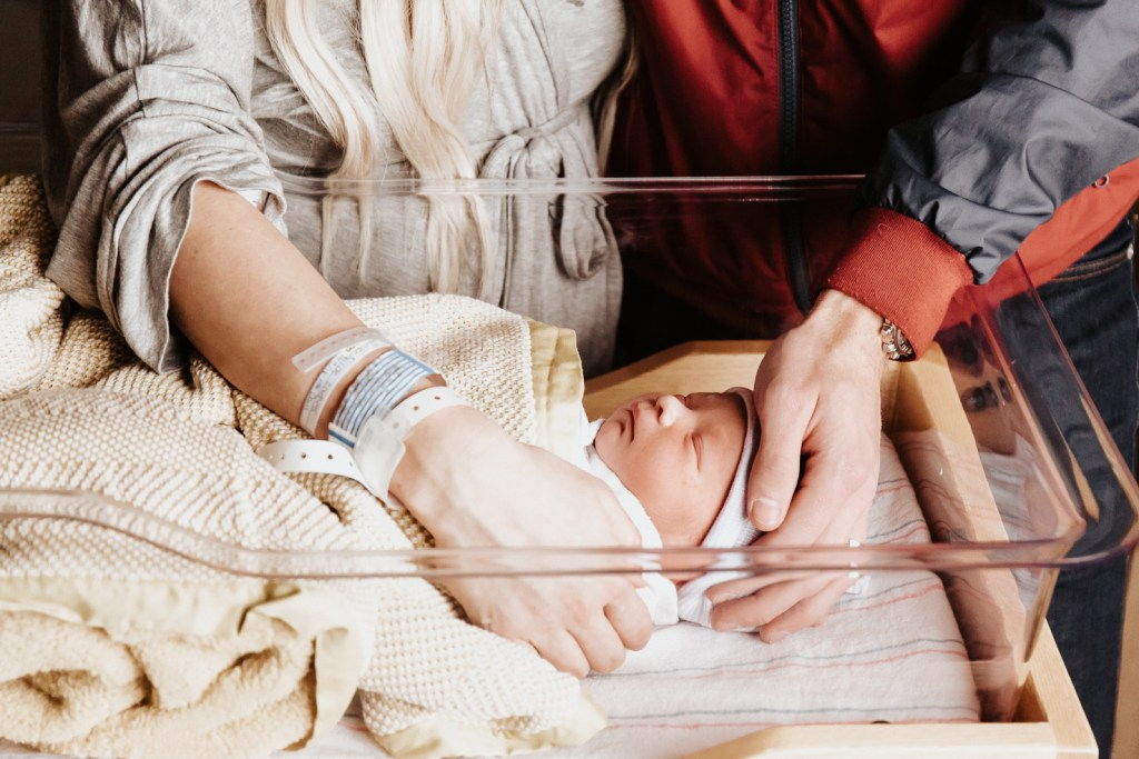 Megan Claire Photography | Arizona Newborn Photographer. Phoenix fresh 48 newborn portrait  session in the hospital. @meganclairephoto