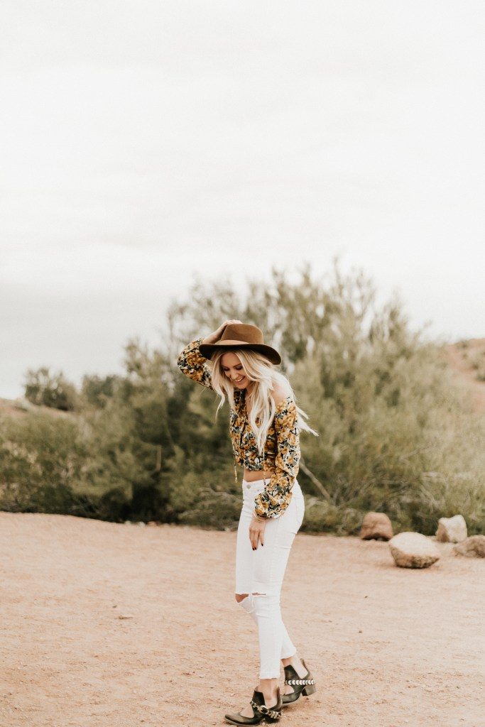 Megan Claire Photography | Arizona Wedding Photographer. Boho desert portrait photoshoot