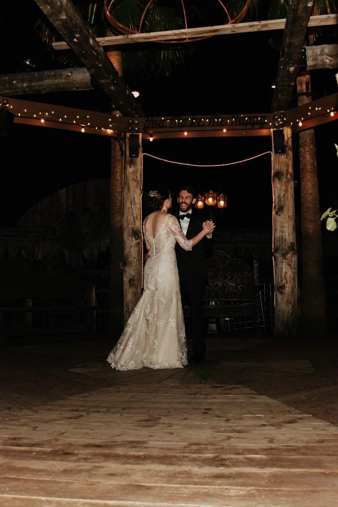 Megan Claire Photography | Arizona Wedding Photographer. Vintage inspired greenhouse arboretum wedding. Bride and groom first dance @meganclairephoto