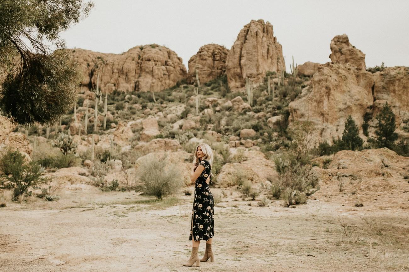 Megan Claire Photography   Phoenix Arizona Portrait Wedding Photographer. Bohemian arboretum fashion portrait photoshoot with social media influencer. @meganclairephoto