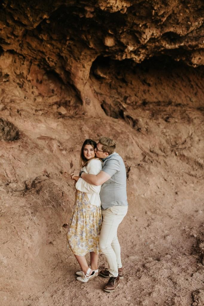 Megan Claire Photography   Arizona Wedding and Engagement Photographer. boho arizona desert couples session by red rocks @meganclairephoto