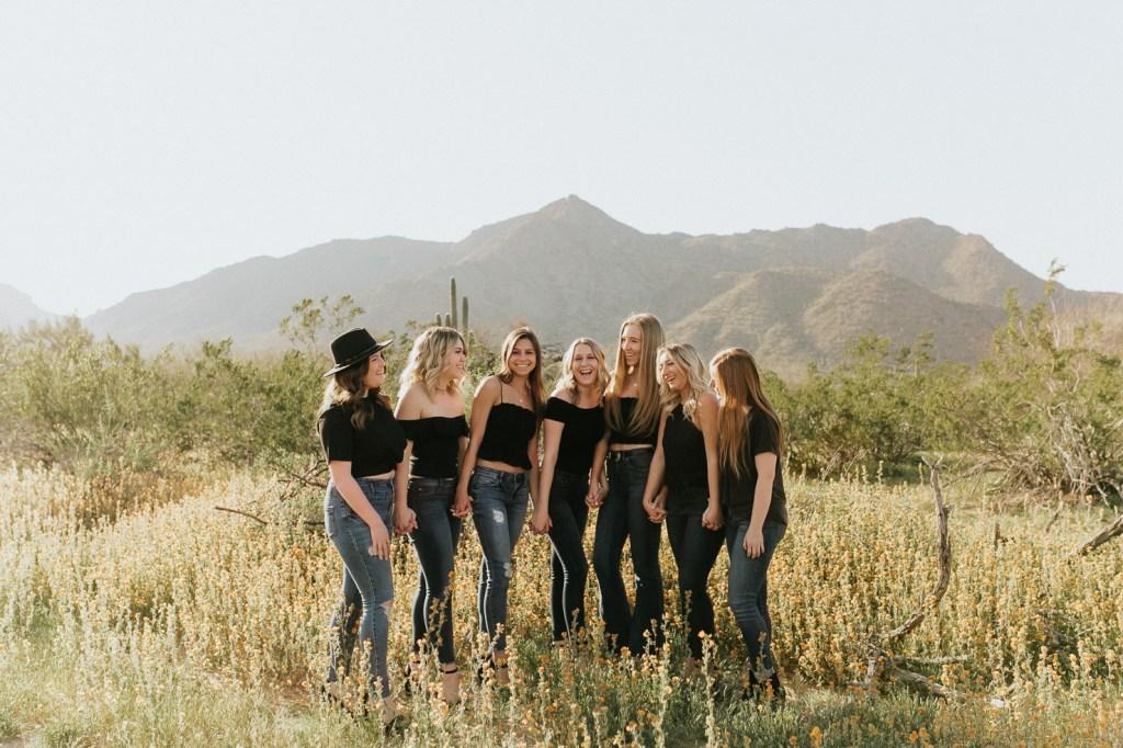 Megan Claire Photography | Phoenix Arizona Wedding and Engagement Photographer. Arizona State University Delta Gamma group portrait photoshoot @meganclairephoto