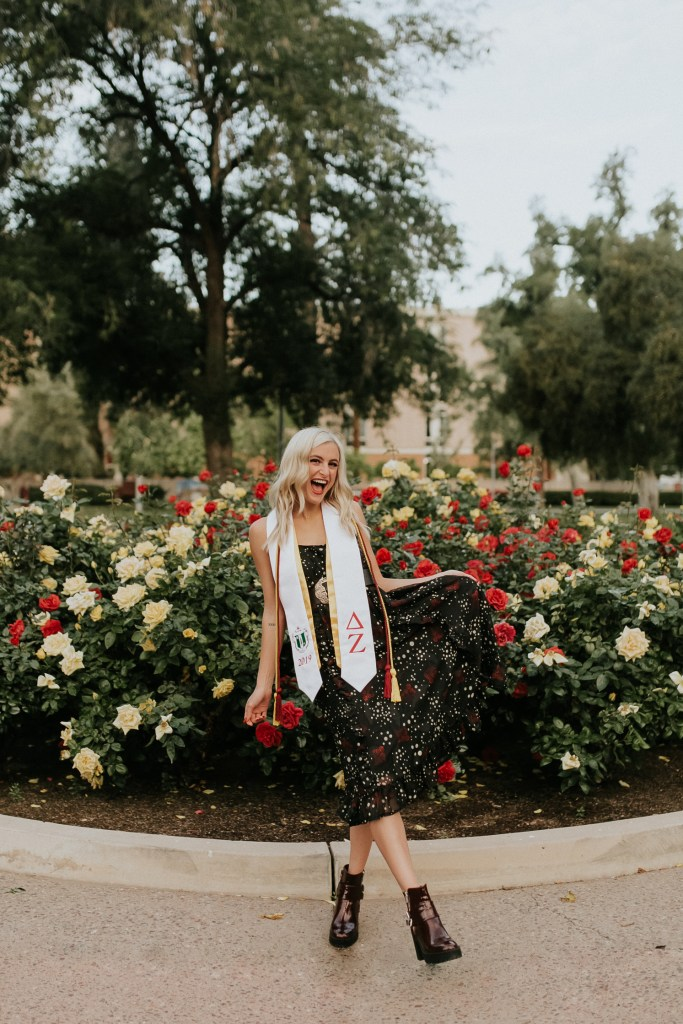 Megan Claire Photography | Phoenix Arizona Wedding and Engagement Photographer. Arizona State University grad photoshoot. College Graduation photos at Old Main ASU @meganclairephoto
