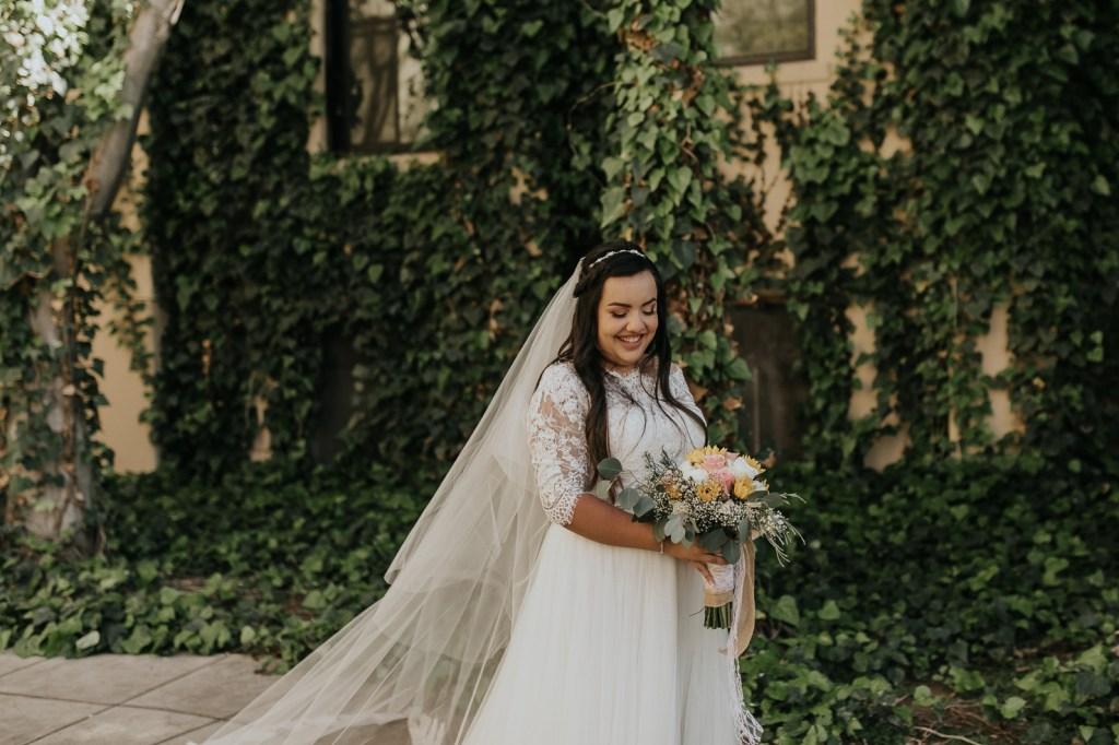 Megan Claire Photography   Arizona Wedding Photographer. Beautiful church wedding. Bride  portraits at Brophy Chapel in Phoenix Arizona